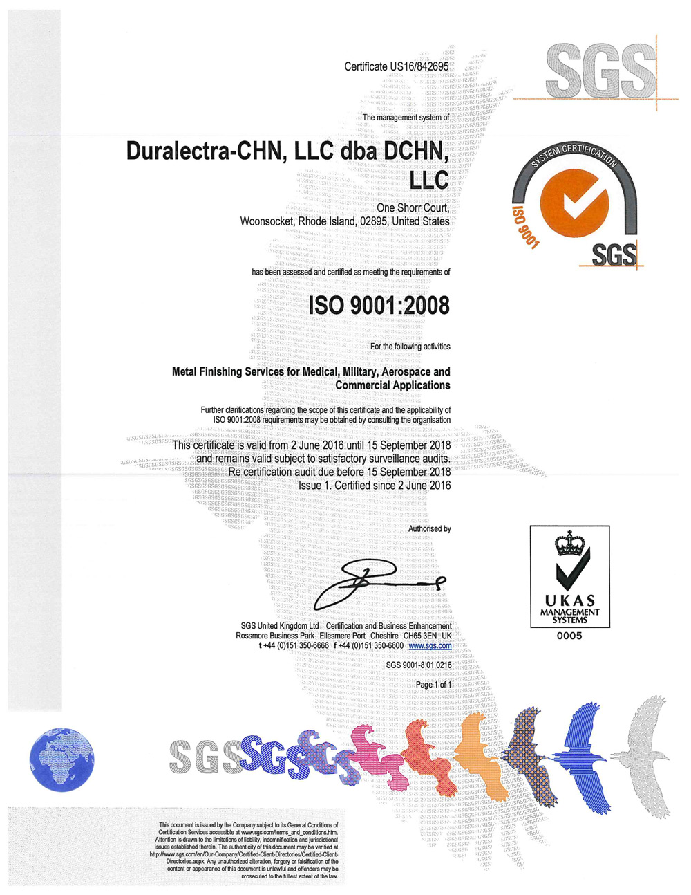 ISO 9001 Certified - Click for PDF